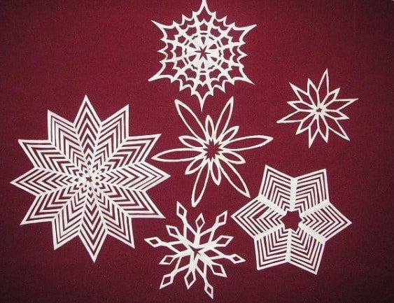 Jak Wycinać Płatki śniegu Z Papieru