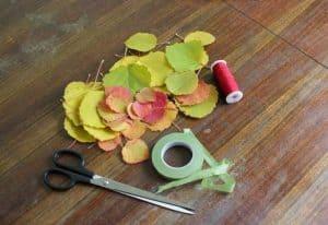 róże zliści, kwiaty zliści, jak zrobić kwiaty zjesiennych liści, jesienne dekoracje