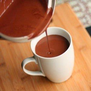 czekolada dopicia, czekolada nagorąco, pitna czekolada, gorąca czekolada, przepis