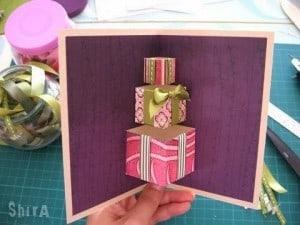 kartka naświęta, kartka naboże narodzenie, jak zrobić kartkę naboże narodzenie, kartki zprezentami, kartki 3D,
