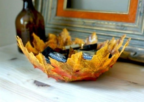 miska zliści, jesienna miseczka, jak zrobić jesienną miseczkę zliści, miska zliści diy, miseczka zliści zrób tosam, miska zesztucznych liści